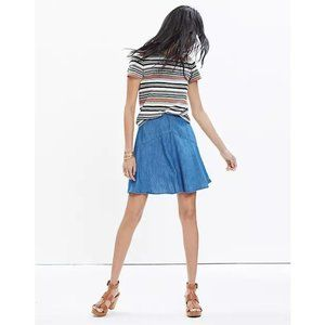 Madewell Denim Piazza Skater Skirt F1542 Swing 8